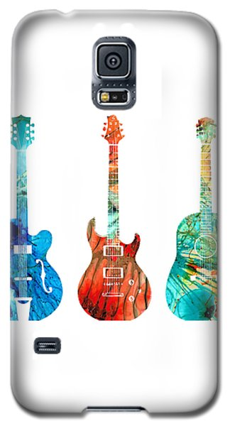 Abstract Guitars By Sharon Cummings Galaxy S5 Case by Sharon Cummings