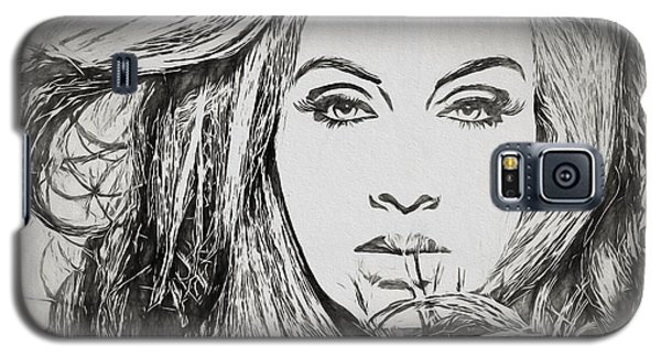 Adele Charcoal Sketch Galaxy S5 Case by Dan Sproul