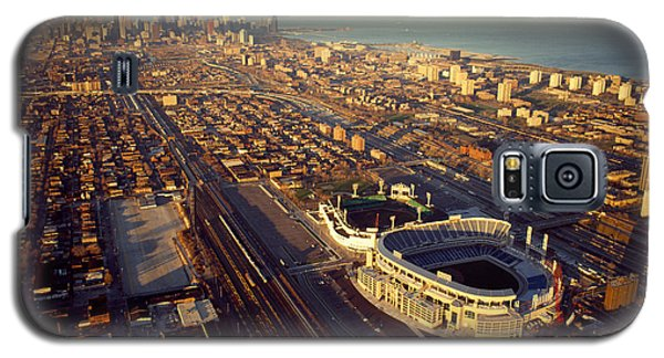 Aerial View Of A City, Old Comiskey Galaxy S5 Case by Panoramic Images