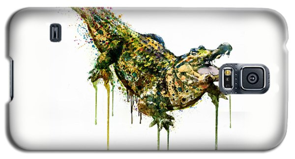 Alligator Watercolor Painting Galaxy S5 Case by Marian Voicu