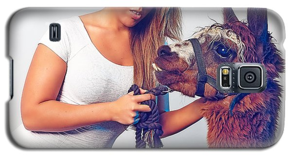 Alpaca Mr. Tex And Breanna Galaxy S5 Case by TC Morgan