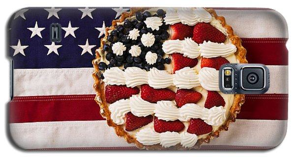 American Pie On American Flag  Galaxy S5 Case by Garry Gay