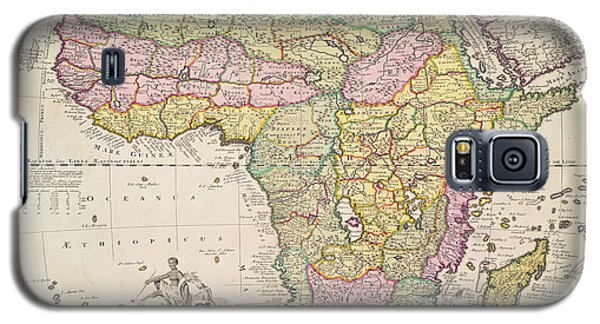 Antique Map Of Africa Galaxy S5 Case by Pieter Schenk