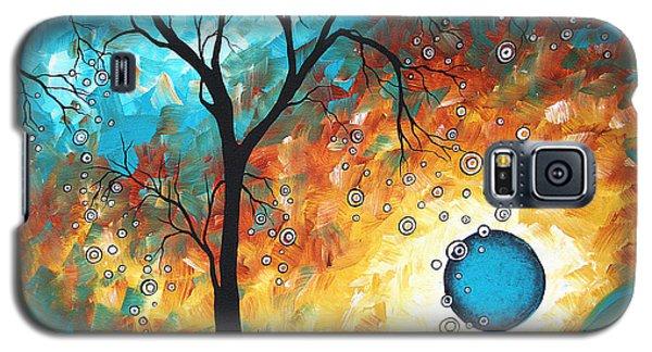 Yellow Galaxy S5 Cases - Aqua Burn by MADART Galaxy S5 Case by Megan Duncanson