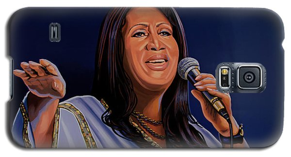 Aretha Franklin Painting Galaxy S5 Case by Paul Meijering