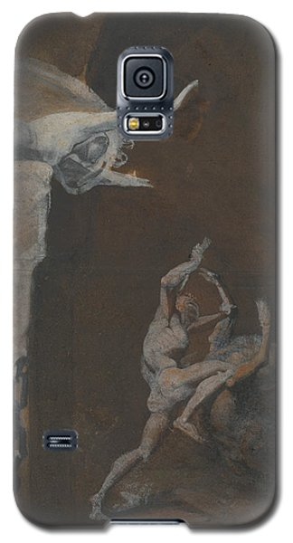 Ariadne Watching The Struggle Of Theseus With The Minotaur Galaxy S5 Case by Henry Fuseli