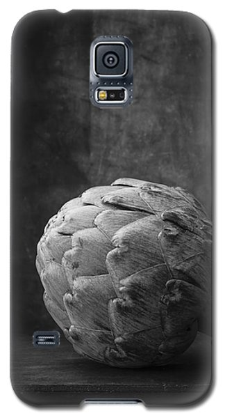 Artichoke Black And White Still Life Galaxy S5 Case by Edward Fielding