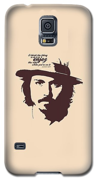 Johnny Depp Minimalist Poster Galaxy S5 Case by Lab No 4 - The Quotography Department
