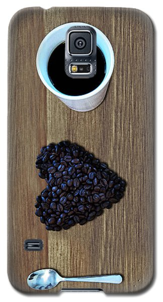 Pyrography Galaxy S5 Cases - I Love Coffee Galaxy S5 Case by Nicklas Gustafsson
