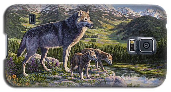 Wolf Painting - Passing It On Galaxy S5 Case by Crista Forest