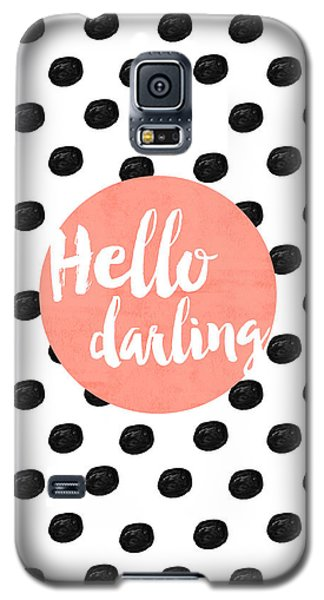 Hello Darling Coral And Dots Galaxy S5 Case by Allyson Johnson
