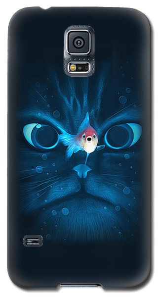 Cat Fish Galaxy S5 Case by Nicholas Ely