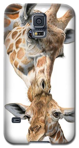 Mother And Baby Giraffe Galaxy S5 Case by Sarah Batalka