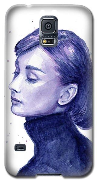 Audrey Hepburn Portrait Galaxy S5 Case by Olga Shvartsur