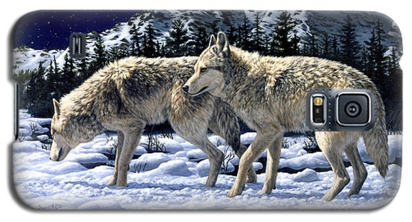 Wolves - Unfamiliar Territory Galaxy S5 Case by Crista Forest