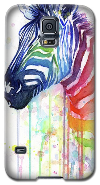 Rainbow Zebra - Ode To Fruit Stripes Galaxy S5 Case by Olga Shvartsur