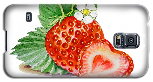 Artz Vitamins A Strawberry Heart Galaxy S5 Case by Irina Sztukowski