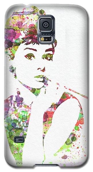Celebrities Galaxy S5 Cases - Audrey Hepburn 2 Galaxy S5 Case by Naxart Studio
