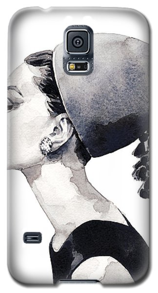 Audrey Hepburn For Vogue 1964 Couture Galaxy S5 Case by Laura Row