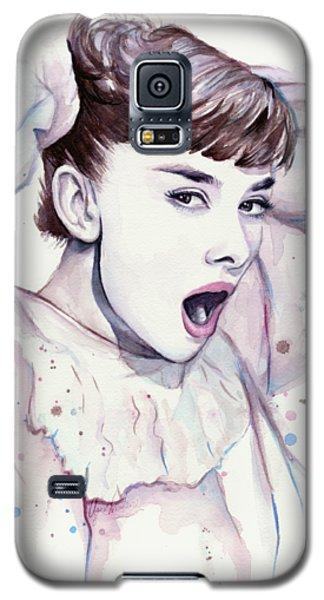 Audrey - Purple Scream Galaxy S5 Case by Olga Shvartsur
