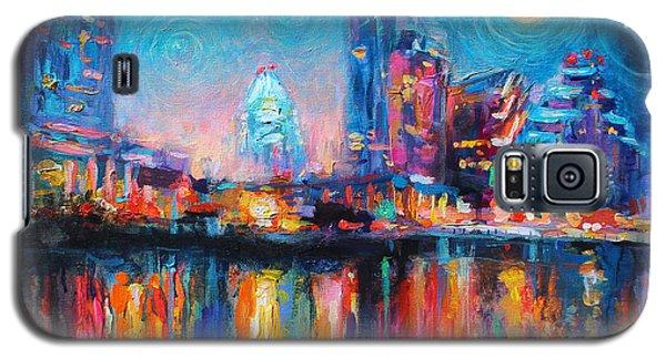 Austin Art Impressionistic Skyline Painting #2 Galaxy S5 Case by Svetlana Novikova