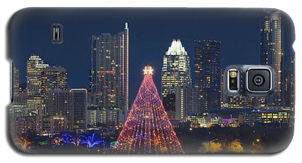 Austin Panorama Of The Trail Of Lights And Skyline Galaxy S5 Case by Rob Greebon