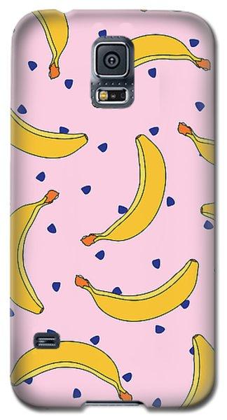 B-a-n-a-n-a-s Galaxy S5 Case by Elizabeth Tuck