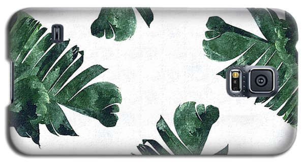 Banan Leaf Watercolor Galaxy S5 Case by Uma Gokhale