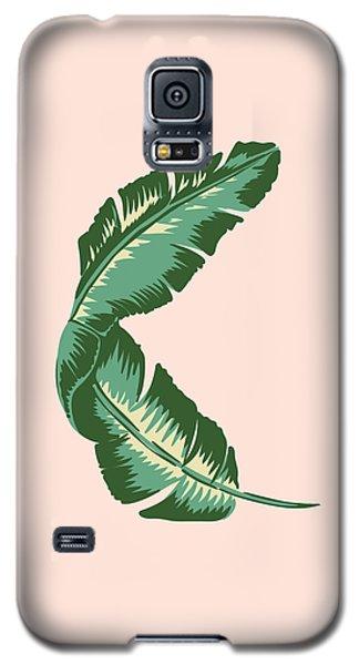 Banana Leaf Square Print Galaxy S5 Case by Lauren Amelia Hughes
