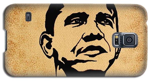 Barack Obama Original Coffee Painting Galaxy S5 Case by Georgeta  Blanaru