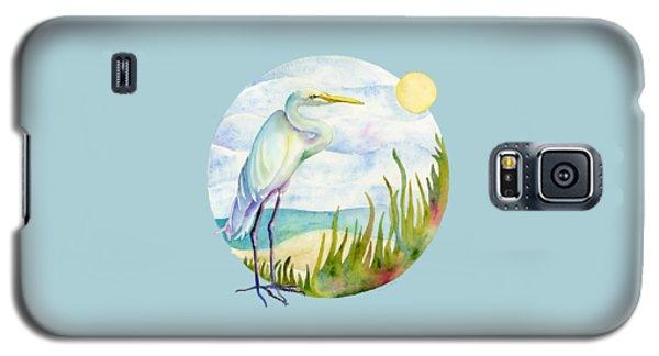 Beach Heron Galaxy S5 Case by Amy Kirkpatrick