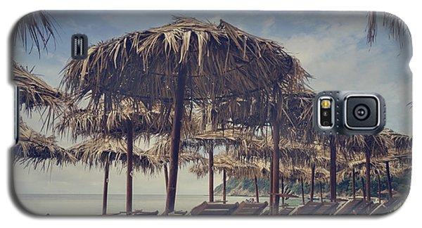 Pyrography Galaxy S5 Cases - Beach Parasols Galaxy S5 Case by Jelena Jovanovic
