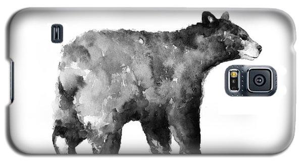 Bear Watercolor Drawing Poster Galaxy S5 Case by Joanna Szmerdt