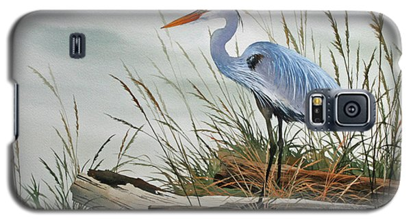 Beautiful Heron Shore Galaxy S5 Case by James Williamson
