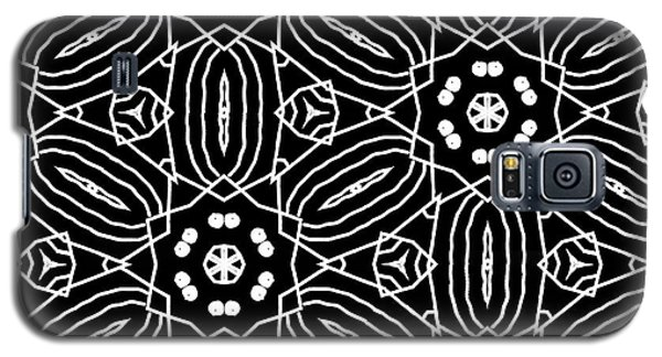 Black And White Boho Pattern 2- Art By Linda Woods Galaxy S5 Case by Linda Woods