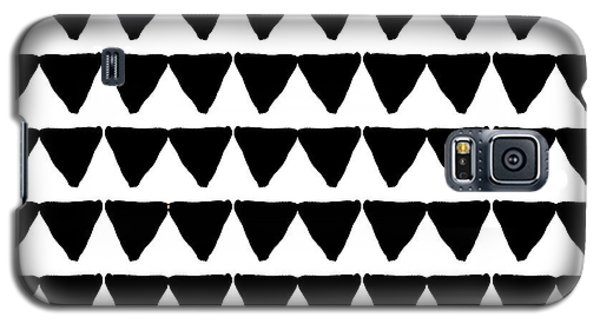 Black And White Triangles- Art By Linda Woods Galaxy S5 Case by Linda Woods