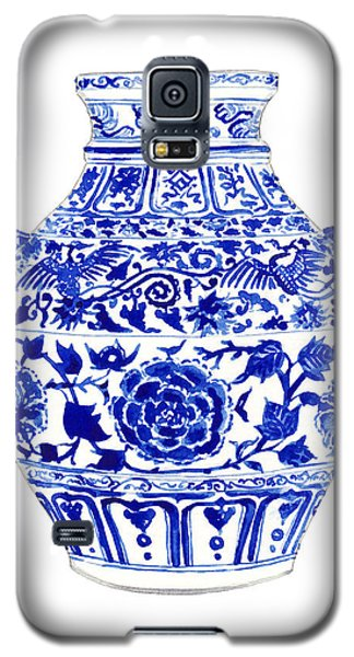 Blue And White Ginger Jar Chinoiserie 4 Galaxy S5 Case by Laura Row