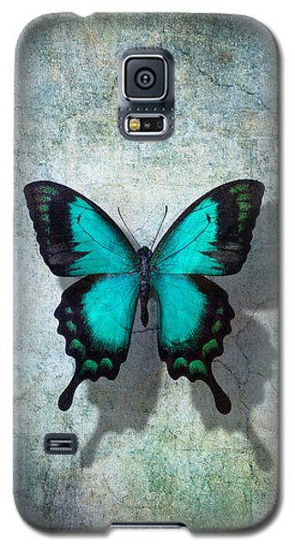 Blue Butterfly Resting Galaxy S5 Case by Garry Gay