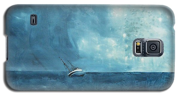 Paintings Galaxy S5 Cases - Blue Galaxy S5 Case by Kristina Broza