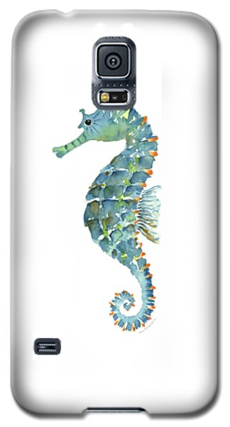 Blue Seahorse Galaxy S5 Case by Amy Kirkpatrick