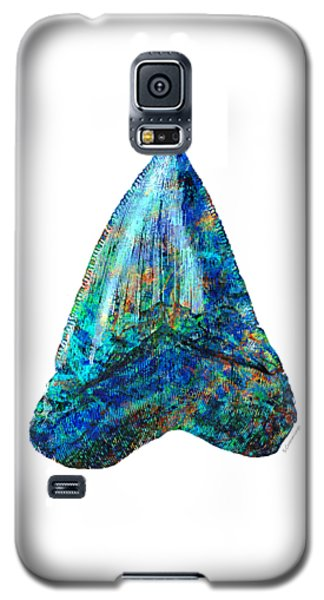 Blue Shark Tooth Art By Sharon Cummings Galaxy S5 Case by Sharon Cummings