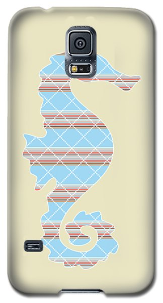 Blue Stripe Pattern Aged Galaxy S5 Case by Christina Rollo