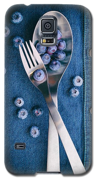 Blueberries On Denim II Galaxy S5 Case by Tom Mc Nemar