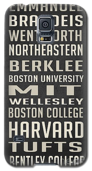 Boston Colleges Poster Galaxy S5 Case by Edward Fielding