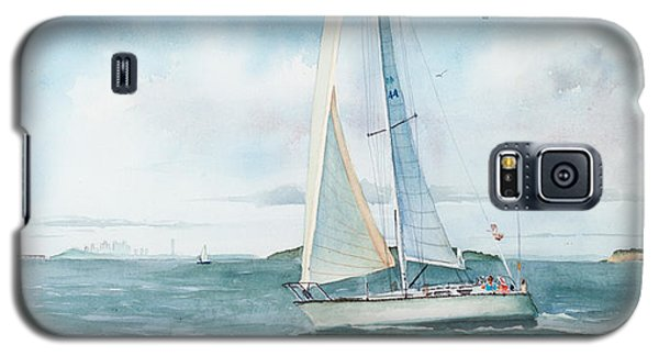 Seascape Galaxy S5 Cases - Boston Harbor Islands Galaxy S5 Case by Laura Lee Zanghetti
