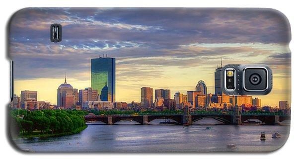 Boston Skyline Sunset Over Back Bay Galaxy S5 Case by Joann Vitali