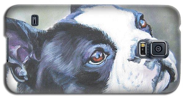 boston Terrier butterfly Galaxy S5 Case by Lee Ann Shepard