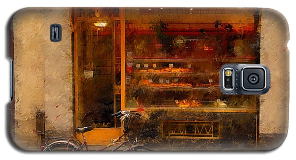 Boulangerie And Bike 2 Galaxy S5 Case by Mick Burkey