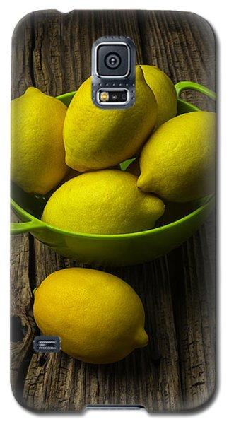 Bowl Of Lemons Galaxy S5 Case by Garry Gay