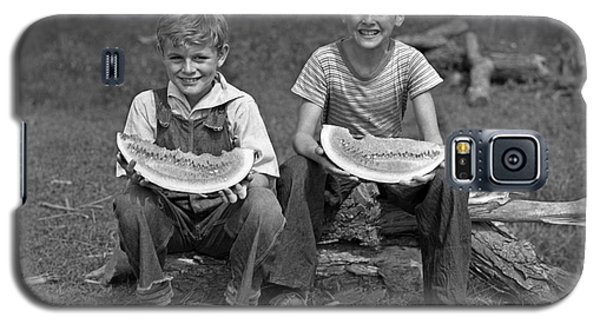 Boys Eating Watermelons, C.1940s Galaxy S5 Case by H. Armstrong Roberts/ClassicStock
